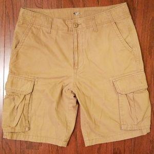 "Old Navy Khaki Cargo Shorts 33"" Waist"